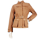 Kris Jenner Kollection Faux Leather Jacket with Buckle Detail - A222811