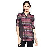Joan Rivers Casual Luxury Boyfriend Shirt - A228511