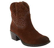 B.O.C. Suede Western Ankle Boots - Ambrosia - A235711