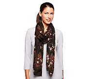 Nicole Richie Collection 19 x 85 Border Print Scarf - A236311