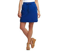 As Is Susan Graver French Terry Pull-on Skort with Pockets - A240011