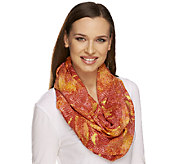 Isaac Mizrahi Live! 28x66 Colorful Snake Infinity Scarf - A252111