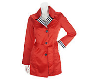 Dennis Basso Notch Collar Jacket with Striped Details - A253211