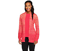 Liz Claiborne New York Ombre Pointelle Cardigan with Tank - A256411