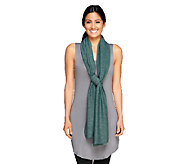 LOGO Lounge by Lori Goldstein French Terry Scarf - A257611