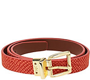 Isaac Mizrahi Live! Reversible Leather Strap Belt - A264211