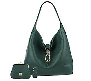 Dooney & Bourke Leather Hobo with Logo Lock and Accessories - A264311