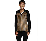 Susan Graver Weekend Hooded Zip Front Knit Jacket - A268011