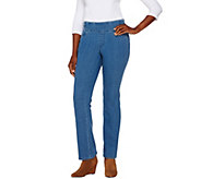 Denim & Co. How Smooth Petite Lightly Bootcut Jeans - A269211