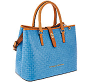 As Is Dooney & Bourke Claremont Woven Embossed Perry Satchel - A273611