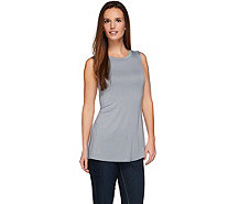 LOGO Layers by Lori Goldstein Knit Tank with Hi-Low Shirttail - A274111