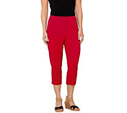 As Is Susan Graver Weekend Coastal Stretch Comfort Waist Capri Pants - A274811