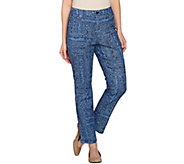 C. Wonder Geo Print 5-Pocket Slim Leg Ankle Jeans - A275111