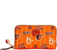 Dooney & Bourke MLB Nylon Orioles Zip Around Phone Wristlet - A281711