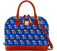 Dooney & Bourke NCAA University of Kansas Zip Zip Satchel - A283211