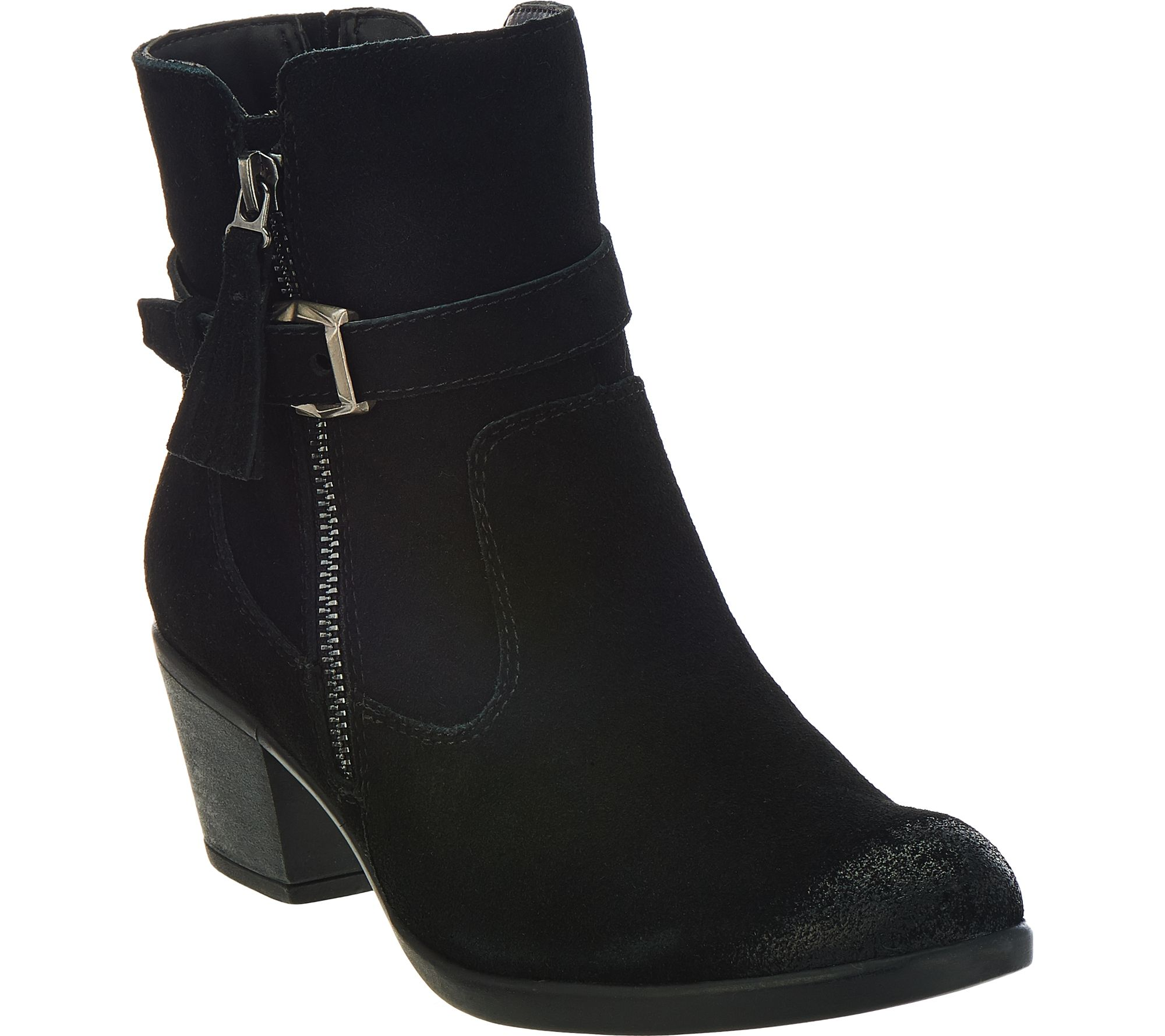 Earth Origins Suede Water Repellent Ankle Boots  Tori  Page 1  QVCcom