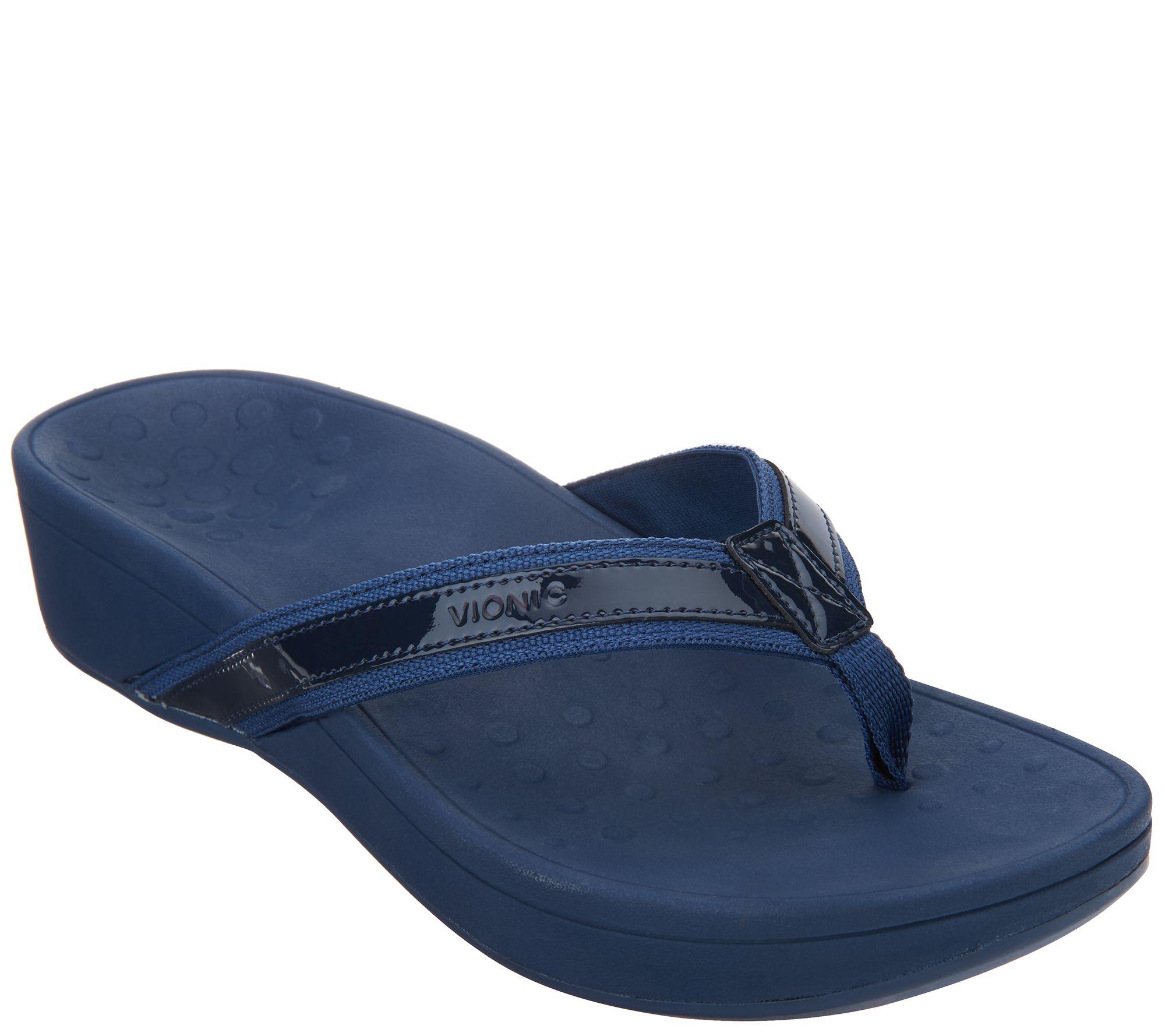 Shoes sandals flip flops - Vionic Orthotic Platform Leather Sandals High Tide A286611