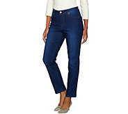 Isaac Mizrahi Live! TRUE DENIM Petite 5-Pocket Ankle Jeans - A287111