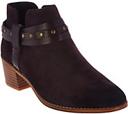 As Is Clarks Somerset Block Heel Ankle Boots - Breccan Shine - A288911