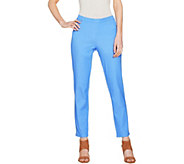 H by Halston Regular Studio Stretch Pull-on Ankle Pants - A289511