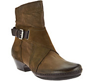 As Is Miz Mooz Leather Boots with Crossover Detail - Elwood - A290711