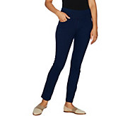 Denim & Co. Petite Stretch Ankle Pants With Pockets - A293511