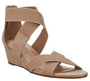 Isaac Mizrahi Live! Double Strap Wedge Open Toe Sandal - A308211