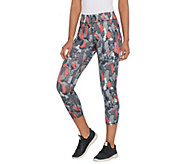 Susan Lucci Collection Regular Cropped Printed Leggings - A308411