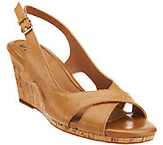 Sofft Slingback Wedge Leather Sandals - Cailean - A335811