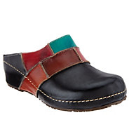 Spring Step Color-Block Leather Clogs- Ridgeview - A337211