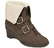 A2 Heel Rest Wedge Ankle Boots w/Buckles - Music Tor - A338411