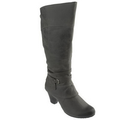 BareTraps Raleigh Tall Shaft Boots w/Strap & Buckle Detail