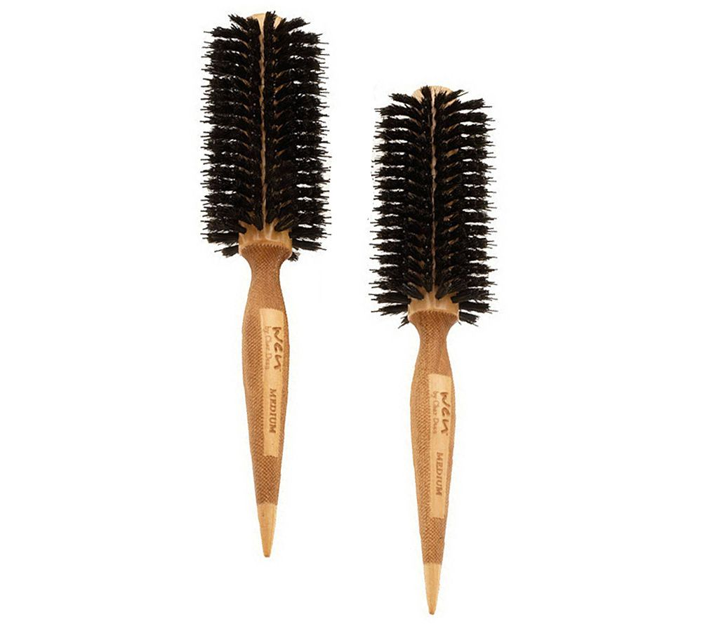 how to clean round hair brush