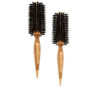 Product image of WEN by Chaz Dean Signature Boar Bristle Medium Round Brush Duo