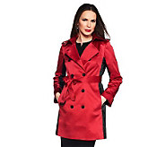 Joan Rivers Illusion Trench Coat - A230512