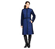 Isaac Mizrahi Live! Fully Lined Houndstooth Coat - A239012