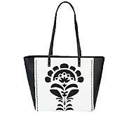 Vera Bradley Faux Leather Laser-Cut Tote - A256212