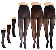 Legacy Trouser Socks and Microfiber Tights 3 Pairs Each - A257812