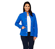Isaac Mizrahi Live! Mixed Quilted Knit Jacket - A259812