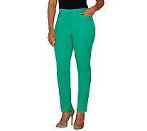 Isaac Mizrahi Live! 24/7 Stretch Fly Front Ankle Pants - A260912