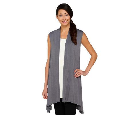 logo layers by lori goldstein drape front vest a261112 qvc com