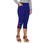 Quacker Factory Lady Liberty French Terry Capri Pants - A261712