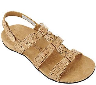 Vionic Orthotic Triple Strap Sandals - Amber