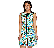 SA by Seth Aaron Printed Scuba Dress with Seaming Details - A265212