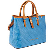 Dooney & Bourke Claremont Woven Embossed Perry Satchel - A266612