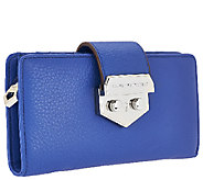 Aimee Kestenberg Pebbled Leather Pinch Lock Wallet - A267412