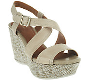 As Is Clarks Artisan Leather Wedges - Nadene Ziva - A270112