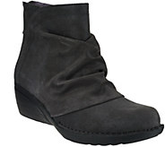 Dansko Leather or Suede Stain Resistant Wedge Ankle Boots - Arisa - A270912