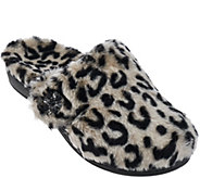 Vionic w/ Orthaheel Orthotic Furry Slippers - Gemma Luxe - A275512