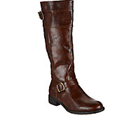As Is BareTraps Tall Shaft Boots w/ Buckle Details- Redford - A275612